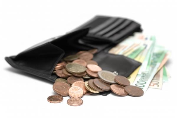 offener geldbeutel