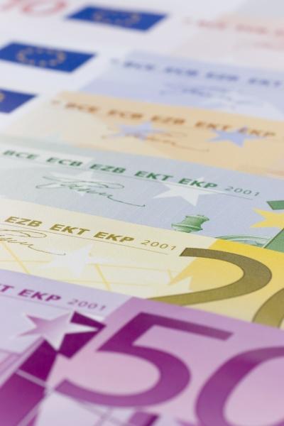 nahaufnahme euro banknoten