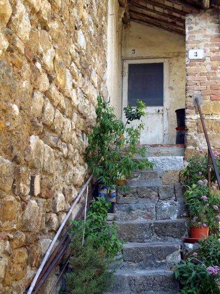alte haustuere mit treppe