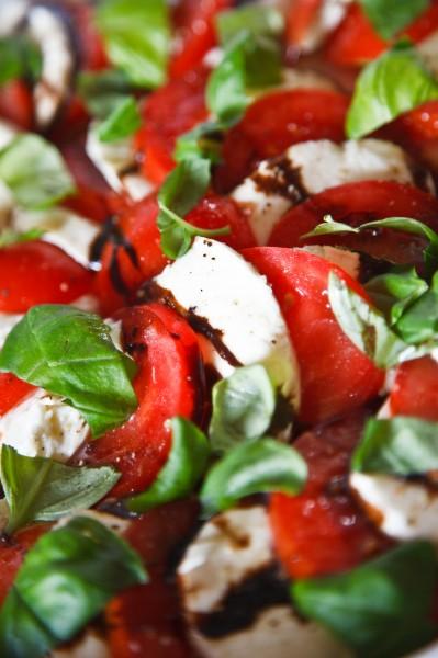 tomaten mit mozarella