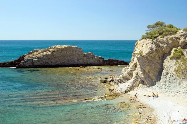 mediterrane bucht in den calanques