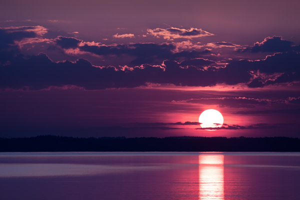 sunset over lake chiemsee
