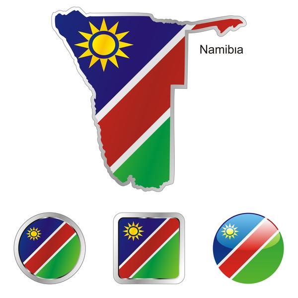 namibia karte und internet buttons
