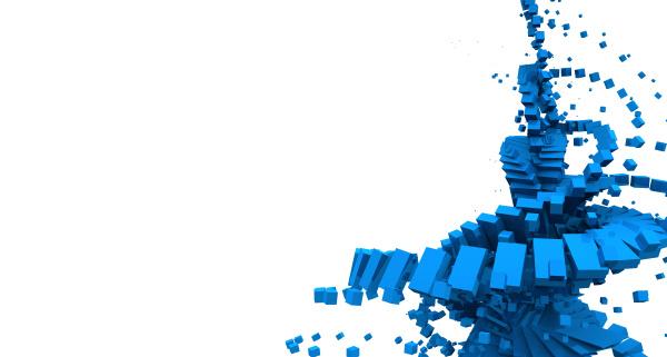 3d background blue flow