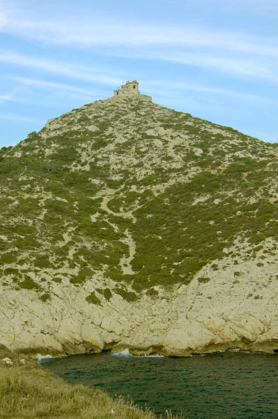 berg in den franzoesischen calanques