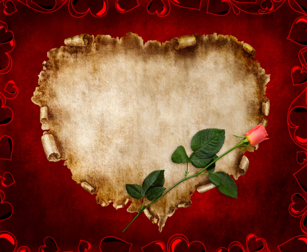 schoene weinlese stilisiert valentinsgruss karte