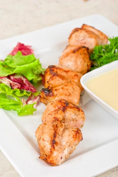 gegrilltes huhn kebab