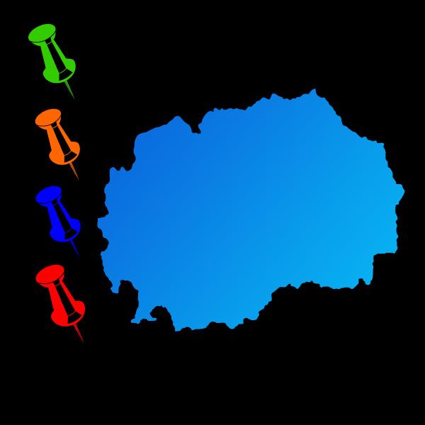 mazedonien reise karte