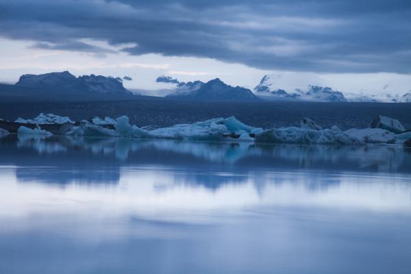 gletscher in island eis