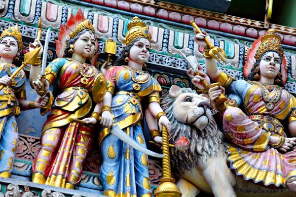 hinduistische tempelstatue