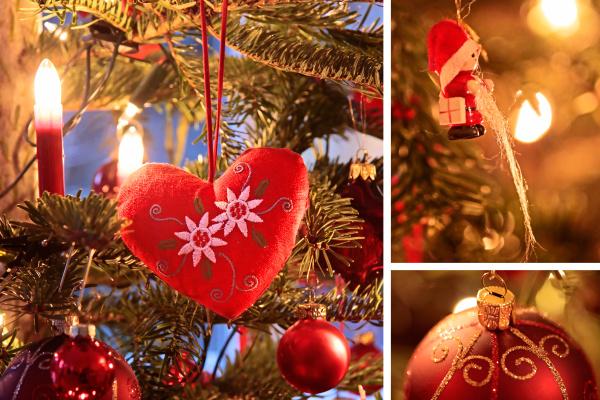 collage weihnachtsmotive