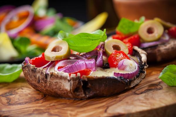 riesen gefuellte portobello pilze