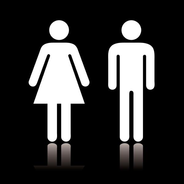 wc symbol negativ