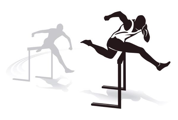 huerdenlauf sprint