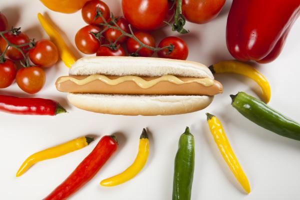 hot dog isoliert auf weiss