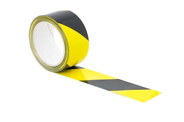 gelb schwarz gestreiftes warnklebeband