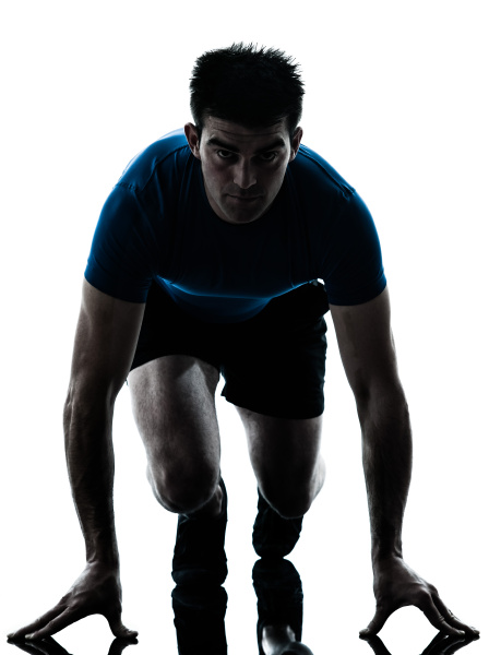 mann running sprinter sprinten