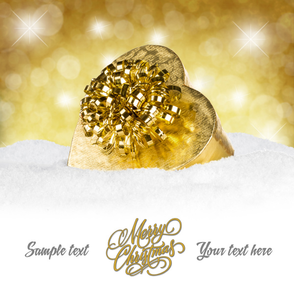 golden christmas present