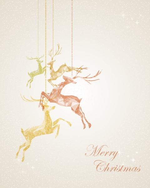 aufhaengende rengrussgrusskarte der frohen weihnachten abstrakte