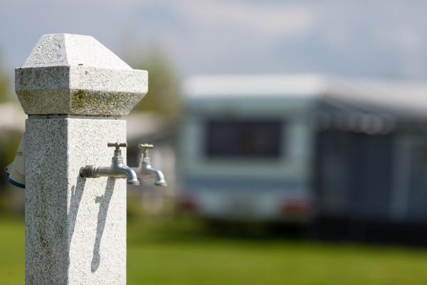 wasserversorgung auf dem campingplatz