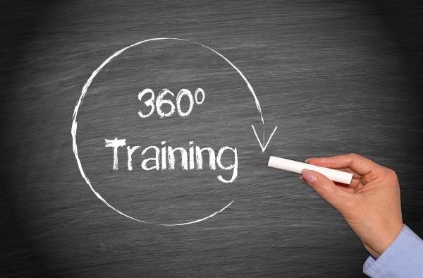 360 grad training business concept