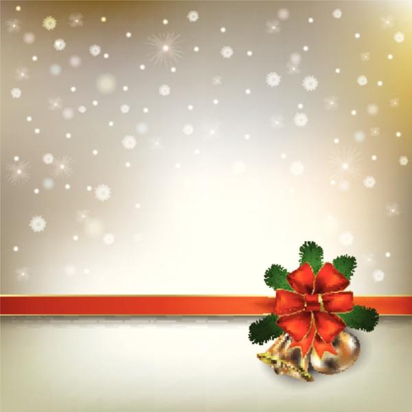 abstrakter hintergrund mit weihnachtsglocken und schneeflocken