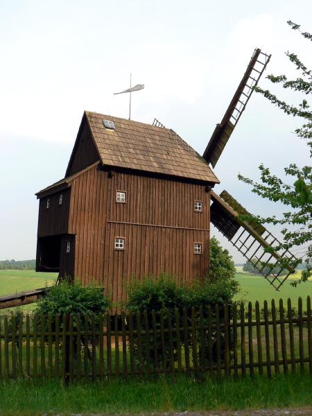 historische bockwindmuehle luga bei bautzen
