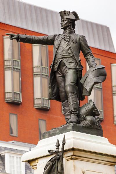 general rochambeau statue lafayette park herbst
