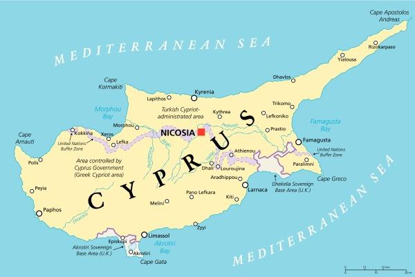 zypern politische karte