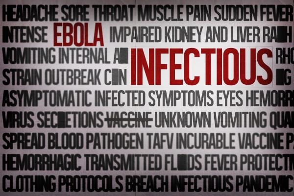 digital erzeugte ebola wort cluster