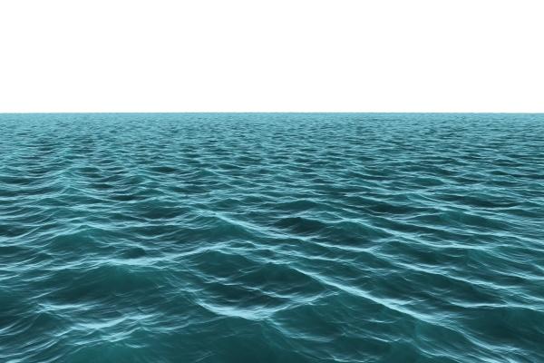 digital erzeugter riesiger blauer ozean