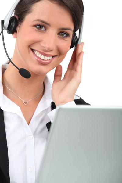 weiblich telesales worker