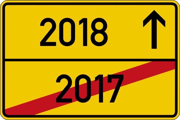 ein ortsschild mit den jahreszahlen 2017