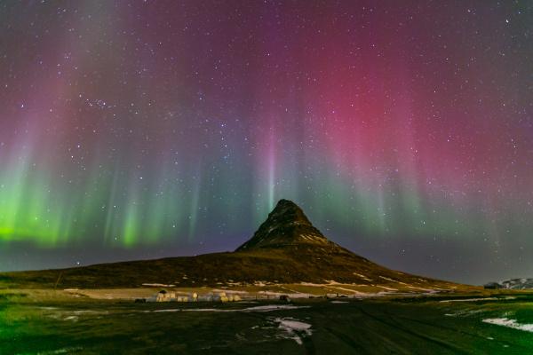 island aurora nordwind natur polar
