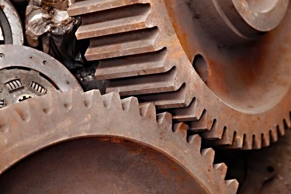 rad industrie maschinerie getriebe zahnrad maschinenpark