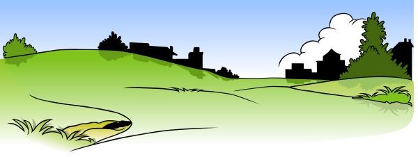 landschaft und haeuser silhouette
