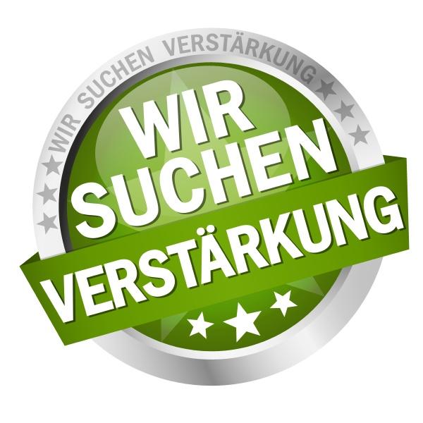 button with banner wir suchen verstaerkung