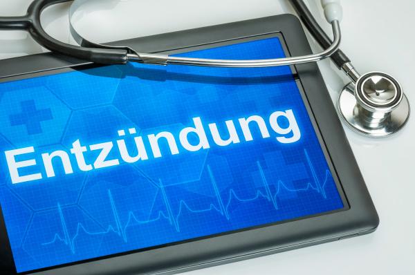 tablet mit der diagnose entzuendung auf