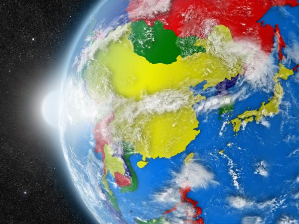 ostasien region aus dem all