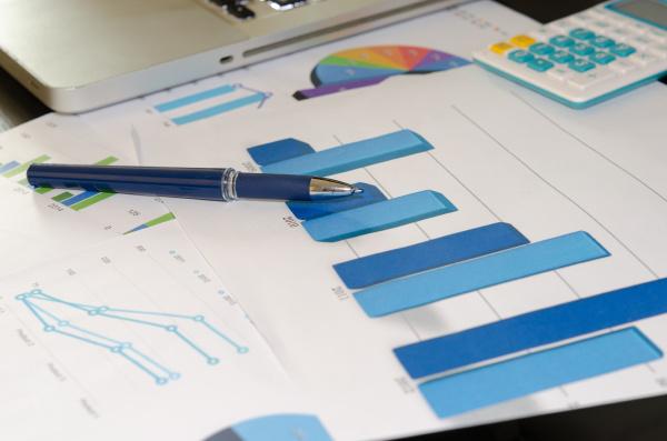 diagramme und stift