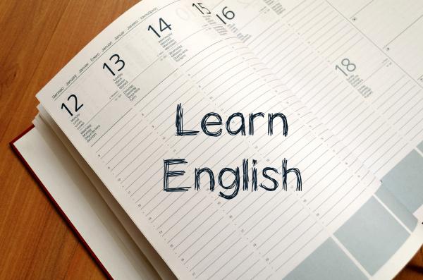 lerne englisch auf notizbuch schreiben