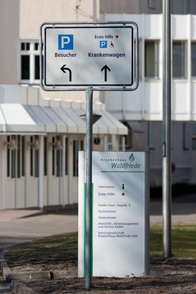 krankenhaus waldfriede auseinfahrt in berlin zehlendorf
