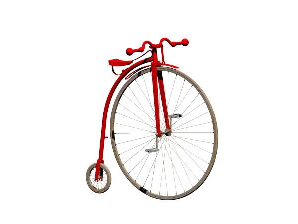 antikes fahrrad freigestellt