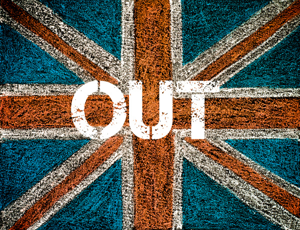 brexit konzept ueber britische union jack