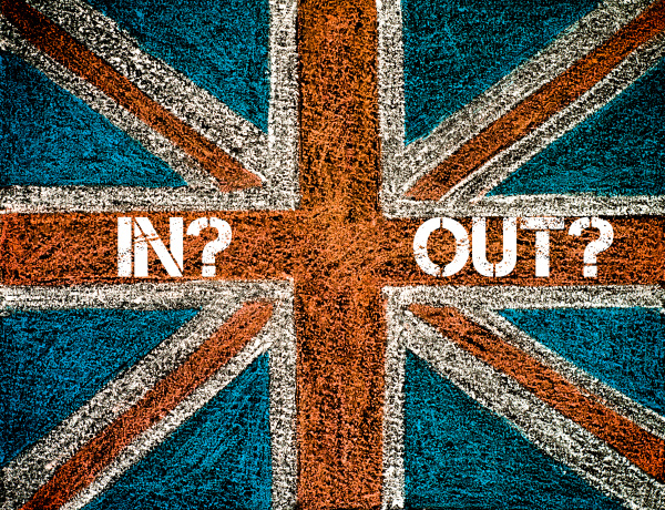 brexit konzept ueber british union jack