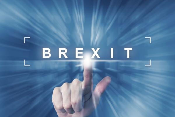 hand klick auf brexit oder britische