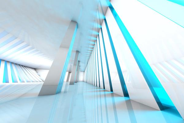 3d darstellung architektur visualisierung eines futuristischen