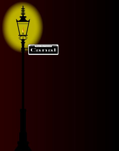rue du canal zeichen mit lampe