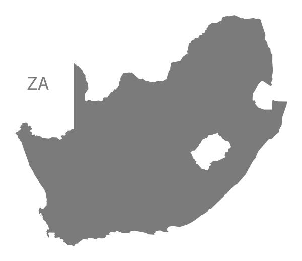 suedafrika karte grau