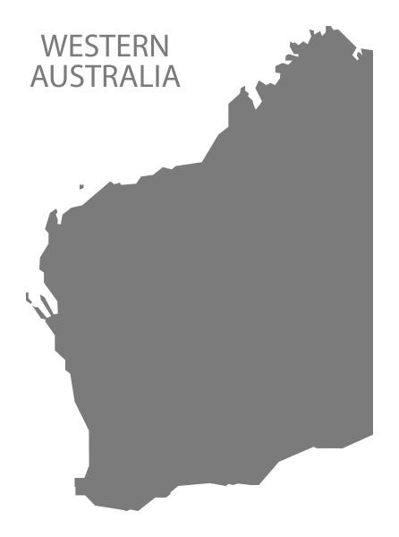 western australia karte grau